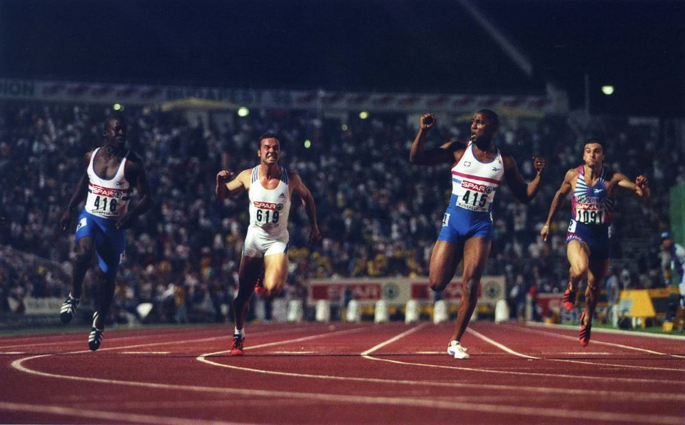 Campbell became men's European champion in the 100m in Budapest in 1998. He would finish his career with six gold medals at major championships