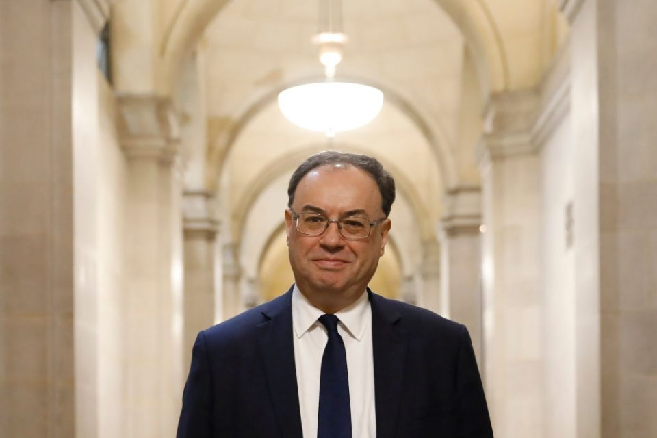 Andrew Bailey Sterling and Negative Rates