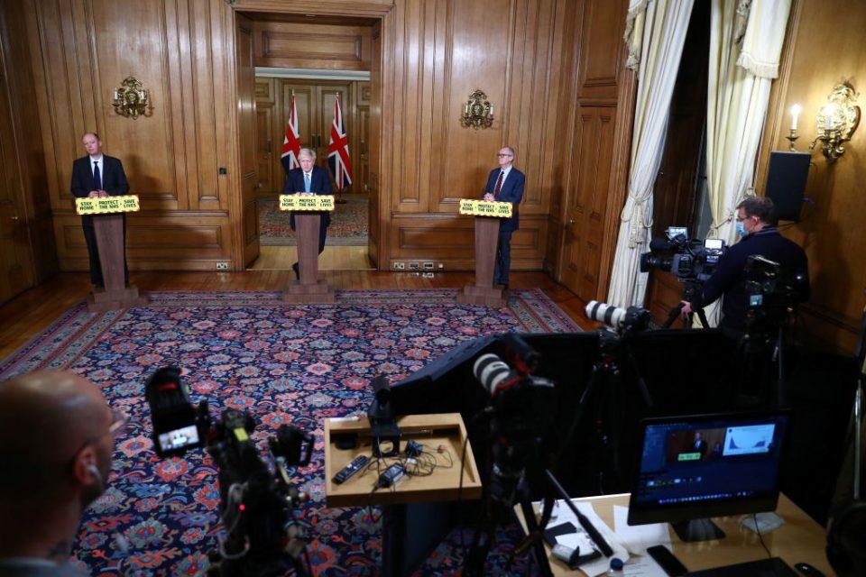 Boris Johnson Holds Press Conference On The Third National Coronavirus Lockdown