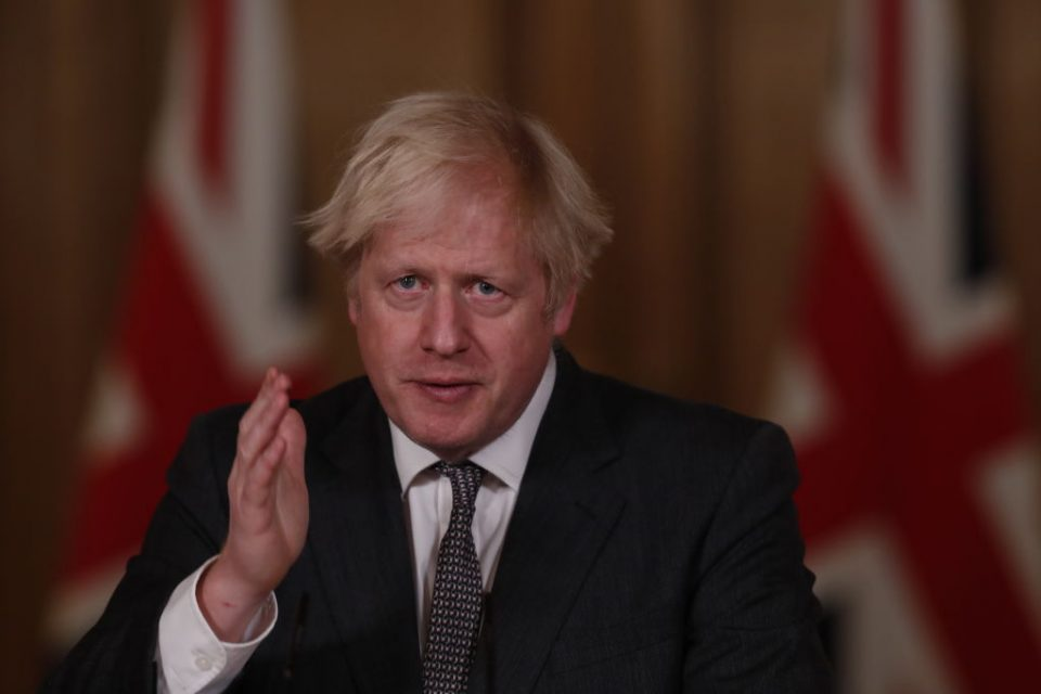 Boris Johnson Hosts Virtual Press Conference Announcing Reviewed Coronavirus Tier Restrictions