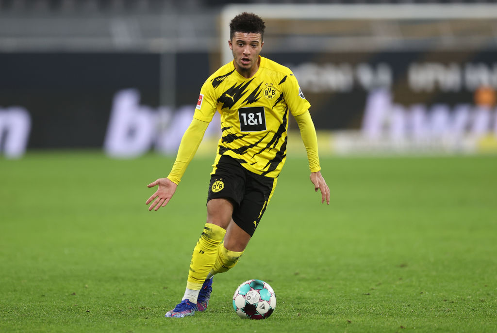 Jadon Sanch of Borussia Dortmund