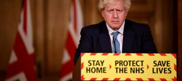 British PM Hosts Virtual Press Conference At Downing Street