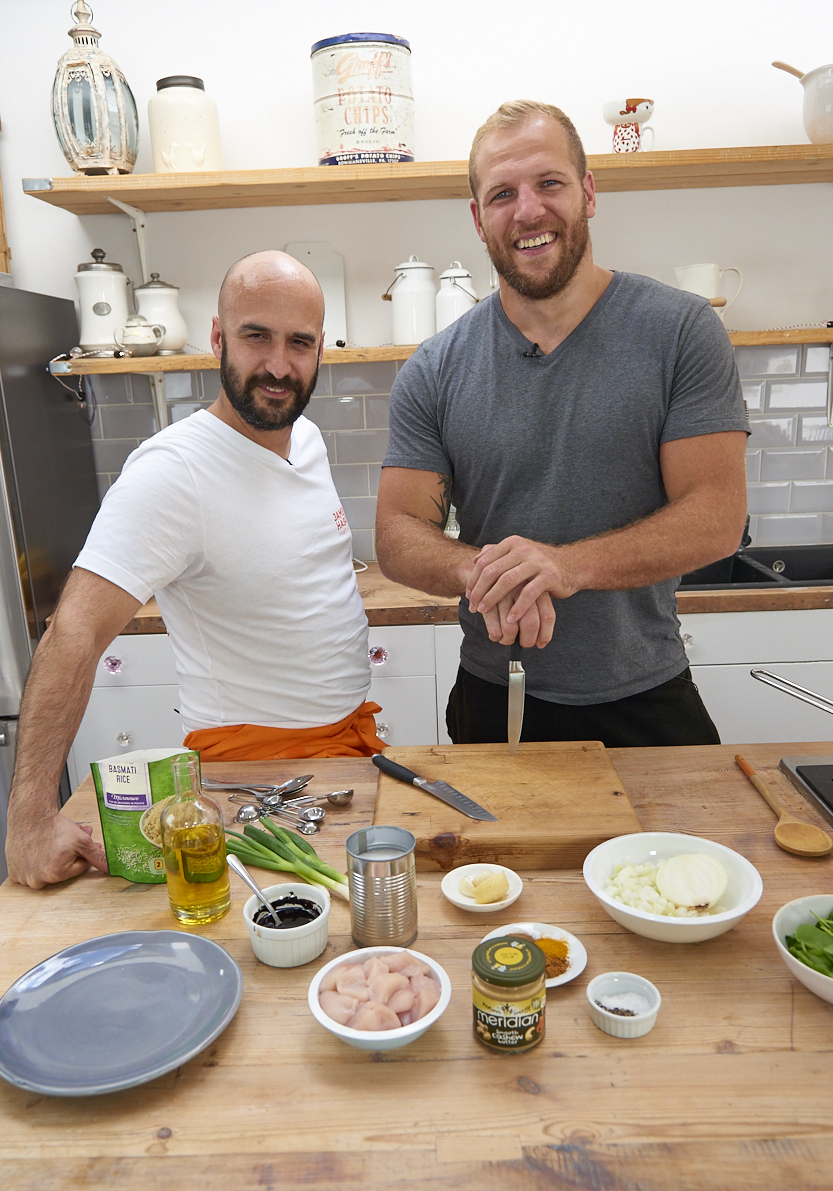 Meziane has worked with a host of elite sportspeople including James Haskell (right), Premiership rugby clubs, the England cricket team and motor racing drivers