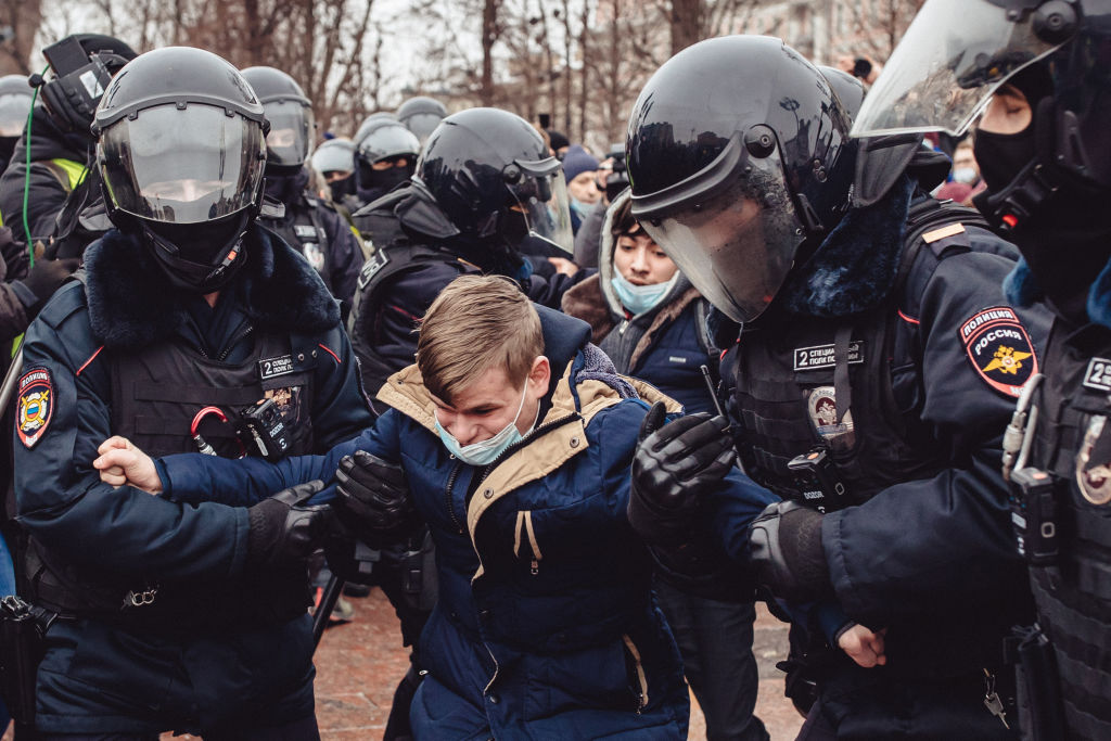Alexei Navalny: Police arrest 1,500 amid protests over jailing of Putin critic