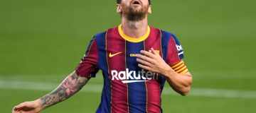 Lionel Messi of Barcelona, who retain the title of the world's richest club in Deloitte's 2021 Football Money League