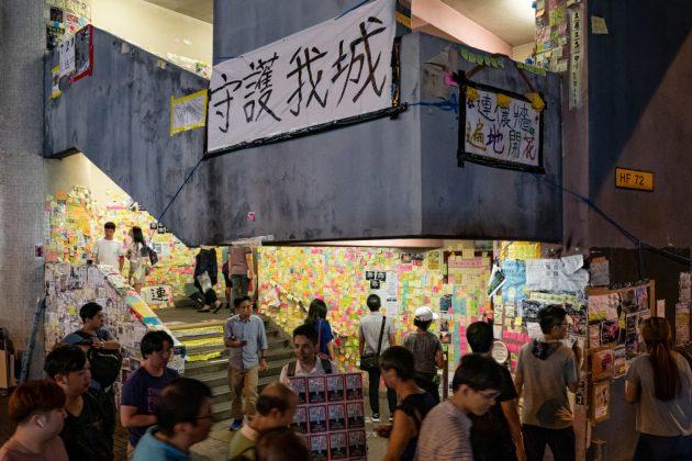 """Lennon Wall"" Spring Up Across Hong Kong"