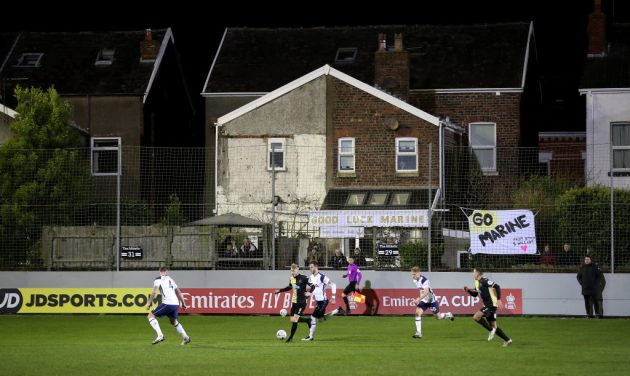 With spectators shut out, Marine capitalised on their FA Cup tie with Spurs by selling virtual tickets and new sponsorship deals