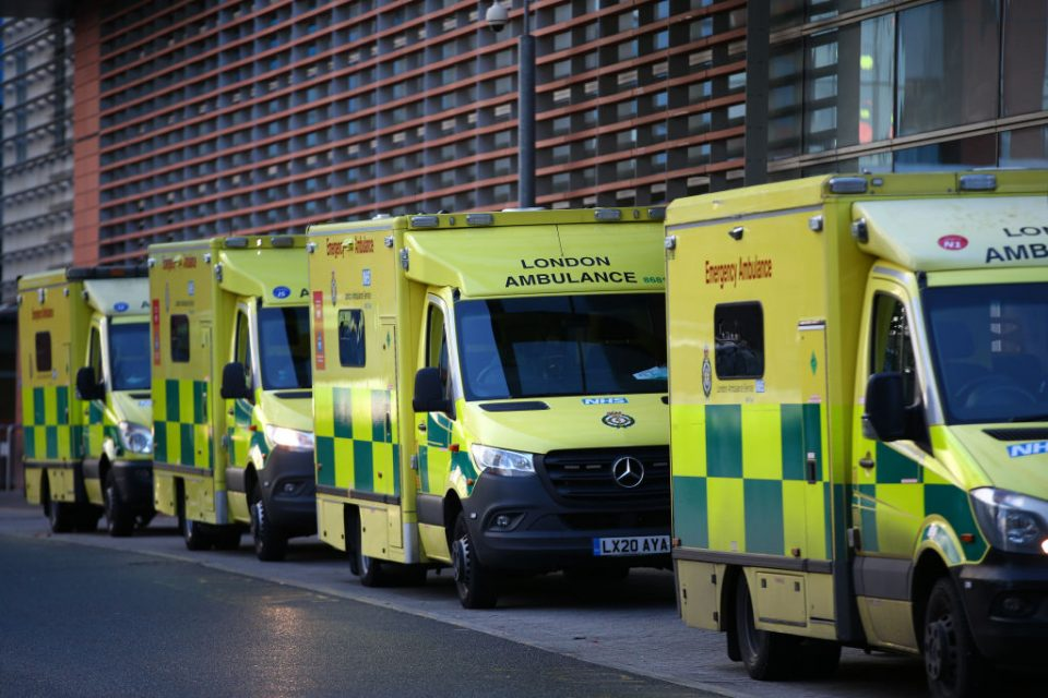 Patients Arrive At Royal London Hospital Amid Impact Of Covid-19 Surge