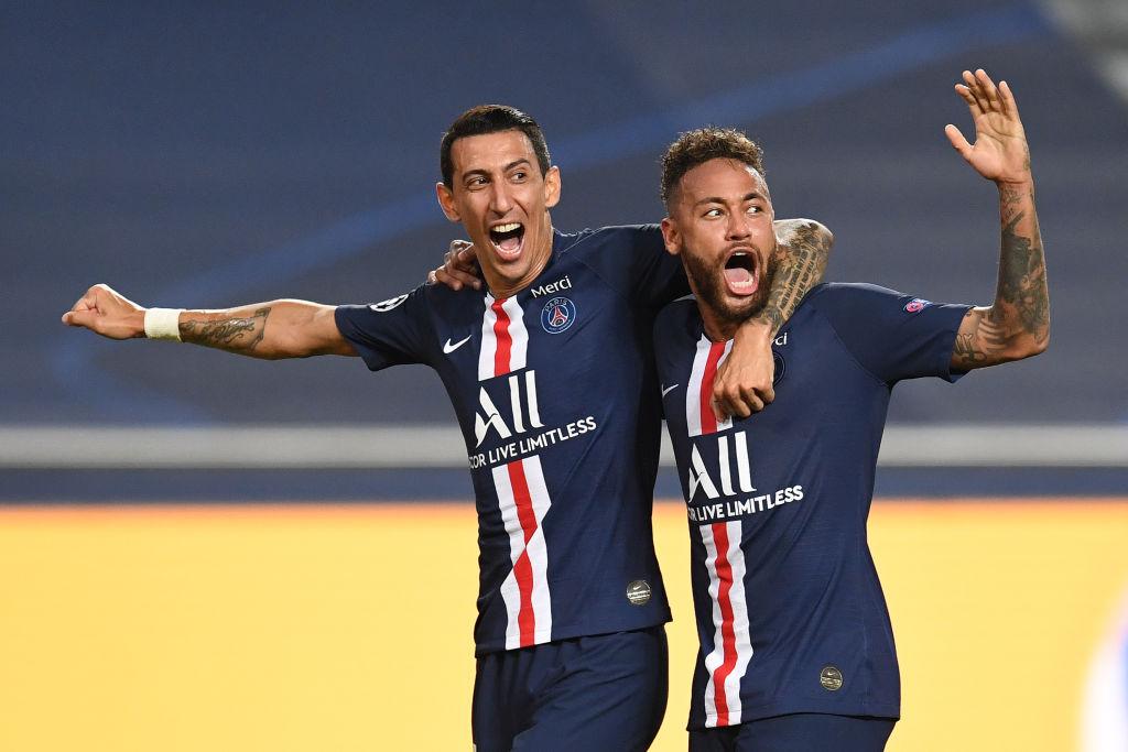 Angel Di Maria and Neymar of Paris Saint-Germain