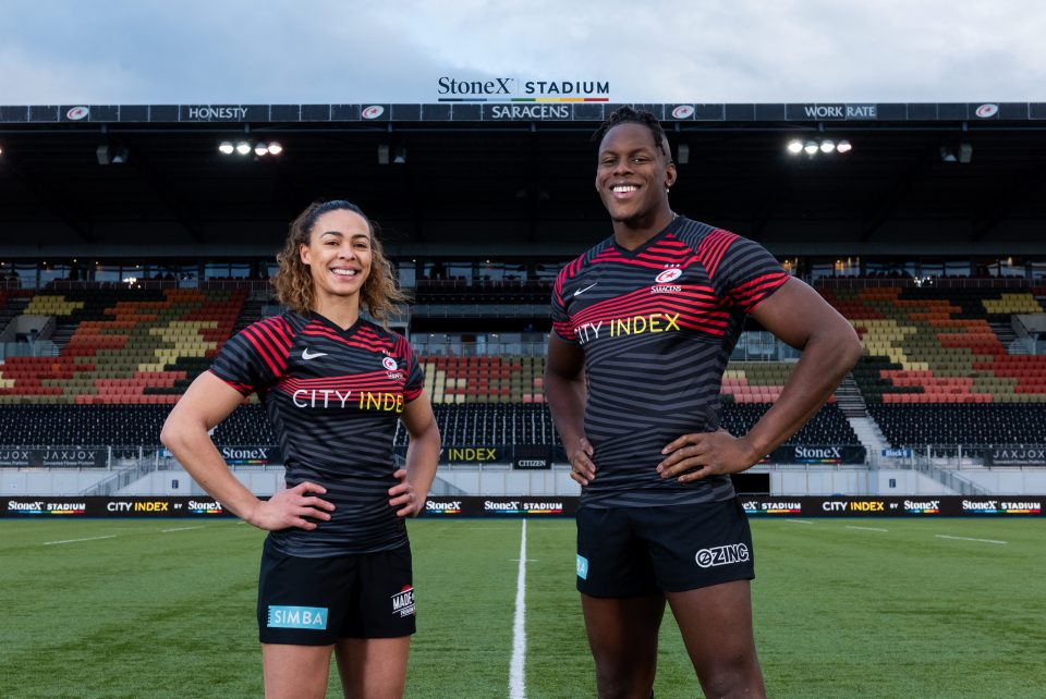 Saracens have signed a four-year sponsorship deal with StoneX and City Index