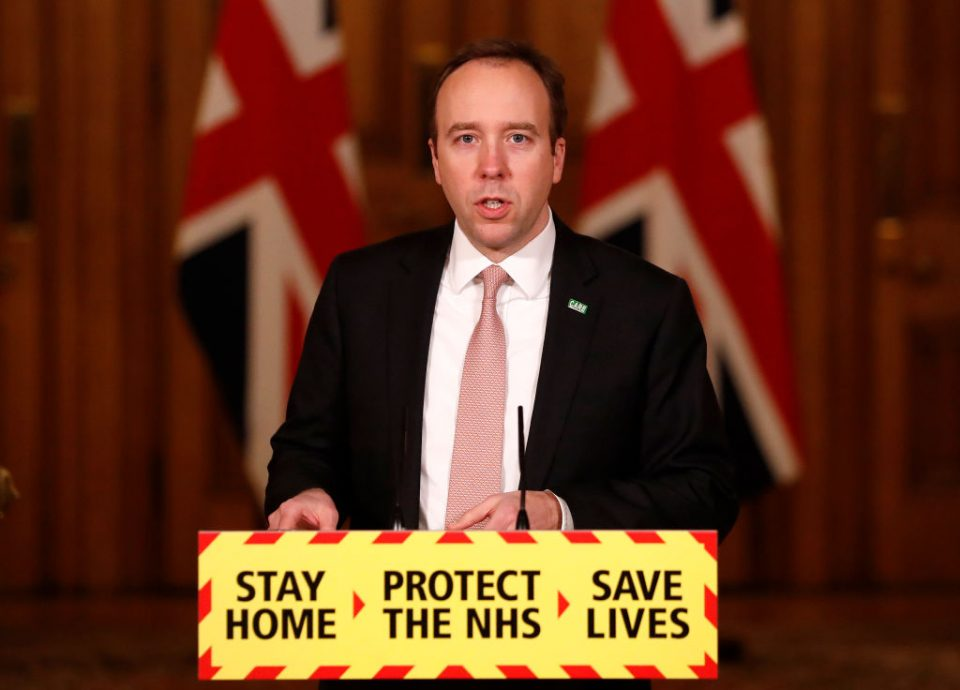 UK Health Secretary Holds Government Press Conference On Vaccine Progress