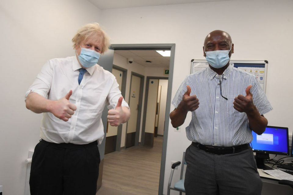 British PM Visits Health Centre As Country Hits 15m Vaccinations