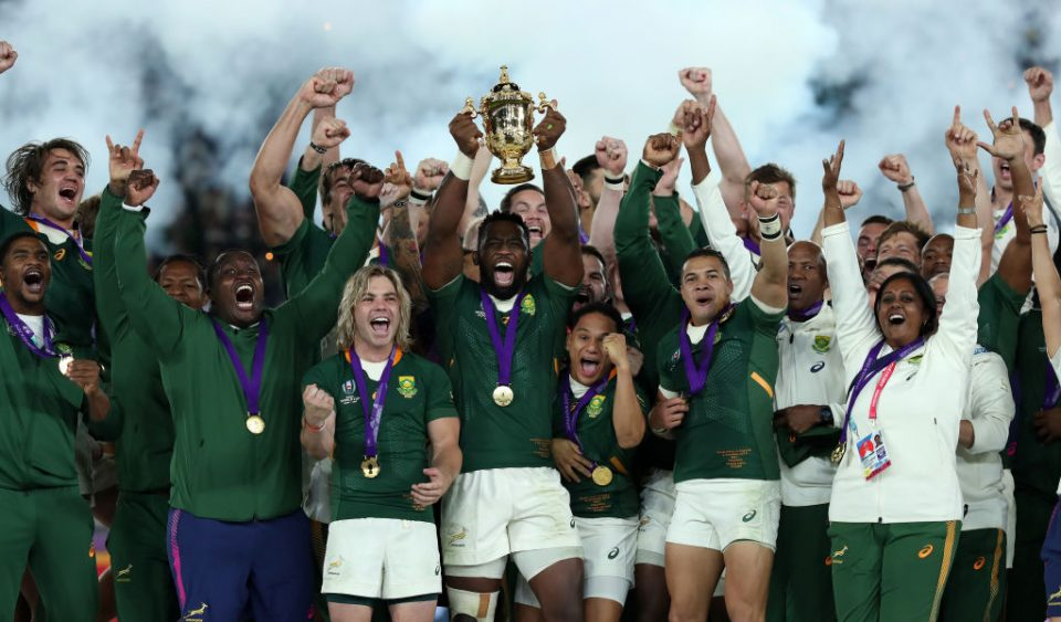 South Africa won the last edition of the Rugby World Cup in Japan two years ago, beating England in the final