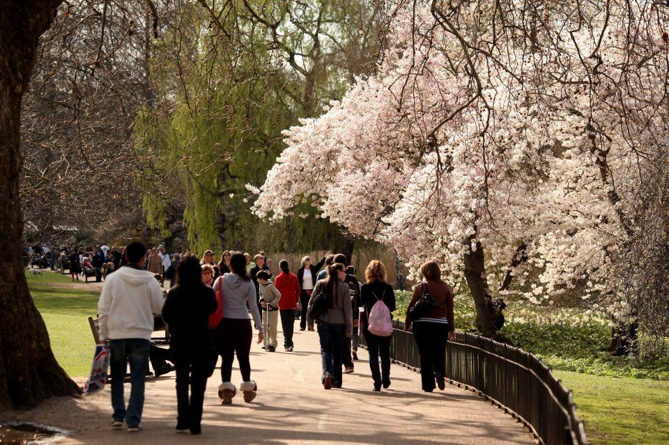 Londoners Revel In Spring Sunshine