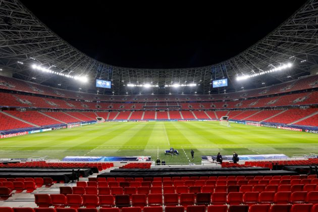 The Puskas Arena in Budapest, Hungary, is playing host to three fixtures involving English clubs this week and next