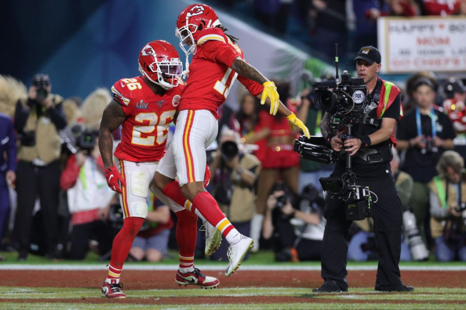 Super Bowl LV takes place this weekend, when the Kansas City Chiefs (above) hope to win the title for the second year in a row