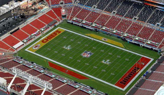 The Tampa Bay Buccaneers' home, the Raymond James Stadium, will host Super Bowl LV
