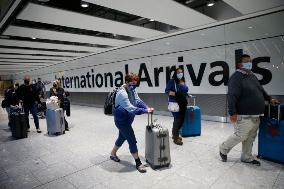 UK To Suspend 'Travel Corridors' From Monday