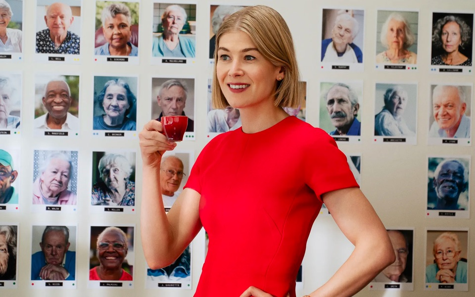 Rosamund Pike in I Care Too Much