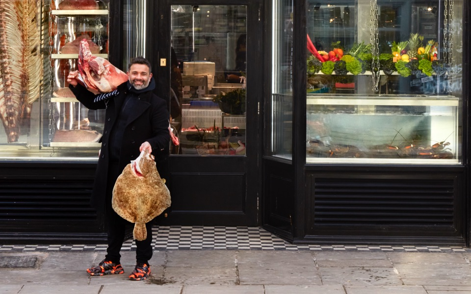 Chris D'Sylva, owner of Notting Hill Fish Shop
