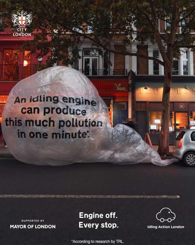 New campaign urges London's drivers: switch off engines when parked to save lives
