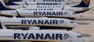 """Ryanair this morning plunged to a €306m (£222.6m) loss as the Irish carrier continued to suffer """"the most challenging year in its history""""."""