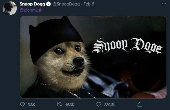 Snoop Dogg Doge tweet