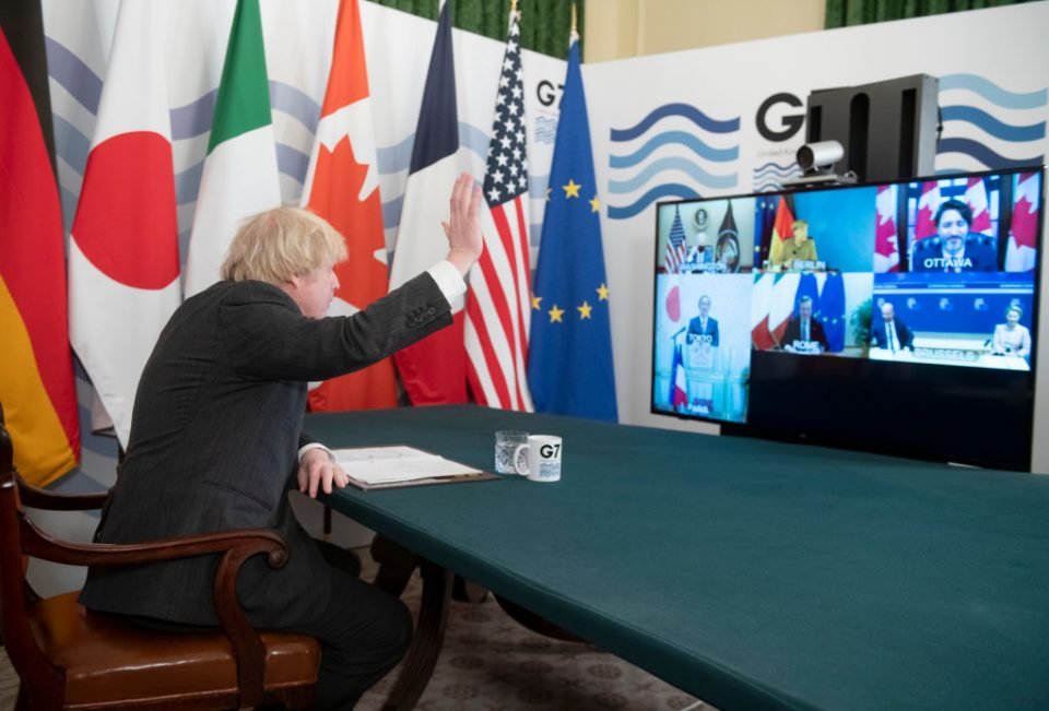 The leaders of the G7 economies today committed to delivering a green recovery from the coronavirus pandemic at a meeting chaired by Prime Minister Boris Johnson.