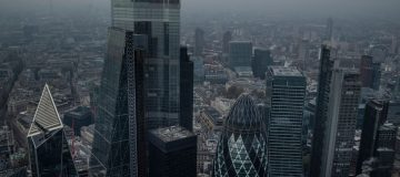 Aerial Views Of London As England Starts Second Lockdown