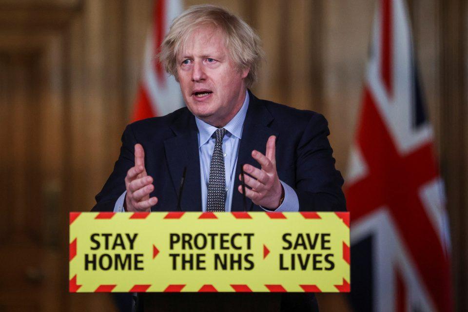 Boris Johnson Holds Coronavirus Press Conference On The Anniversary Of UK's First Lockdown
