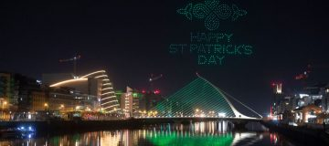 Drones Light Up The Sky For St Patrick's Day