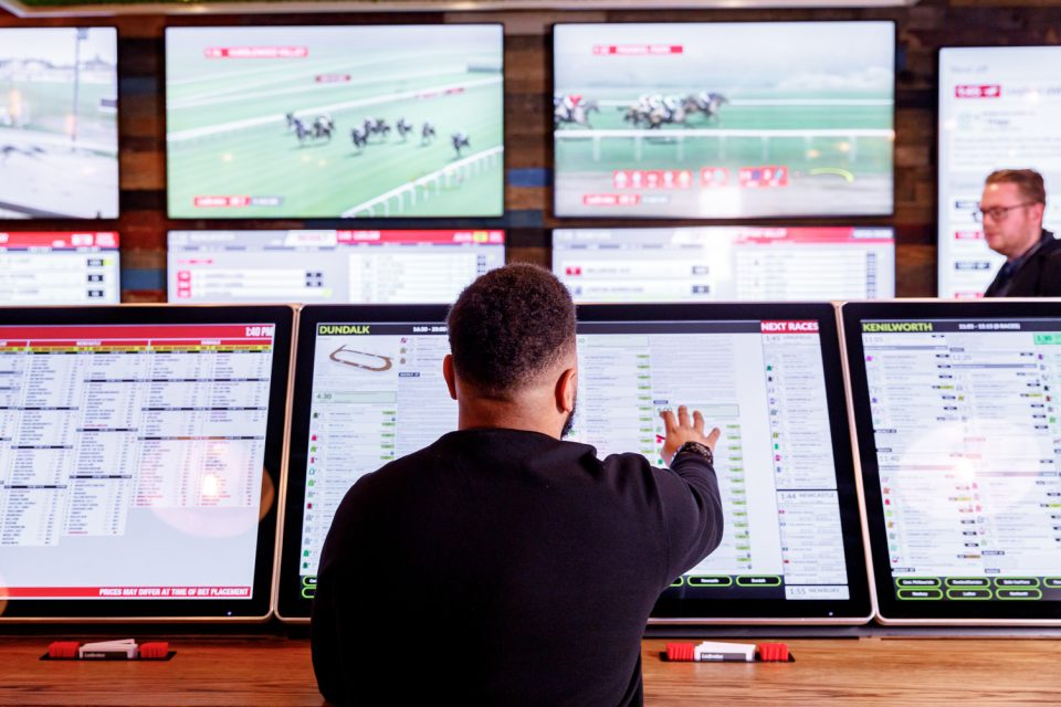 Ladbrokes owner Entain today swung back into the black as rapid growth from its US joint venture pushed revenue higher.