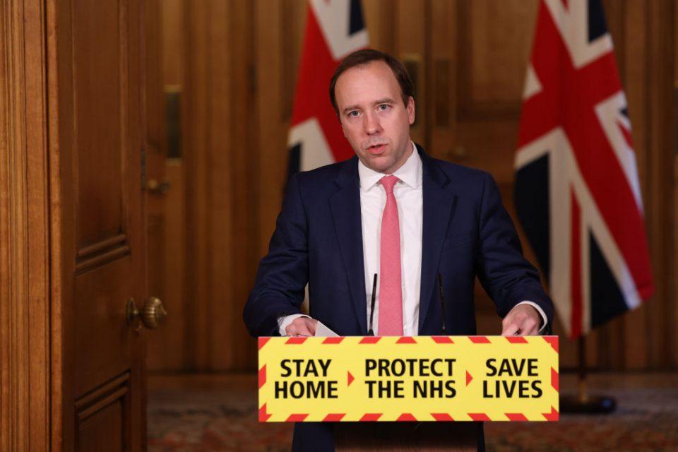 Matt Hancock Holds Downing Street Coronavirus Press Conference