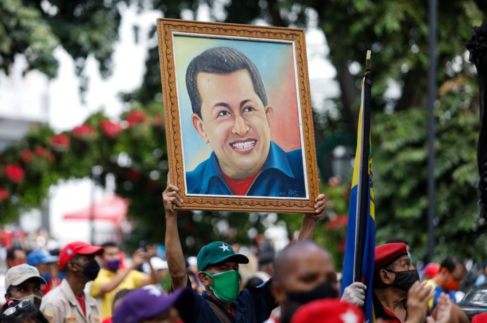 Supporters Of President Maduro Gather To Defend Congressional Elections