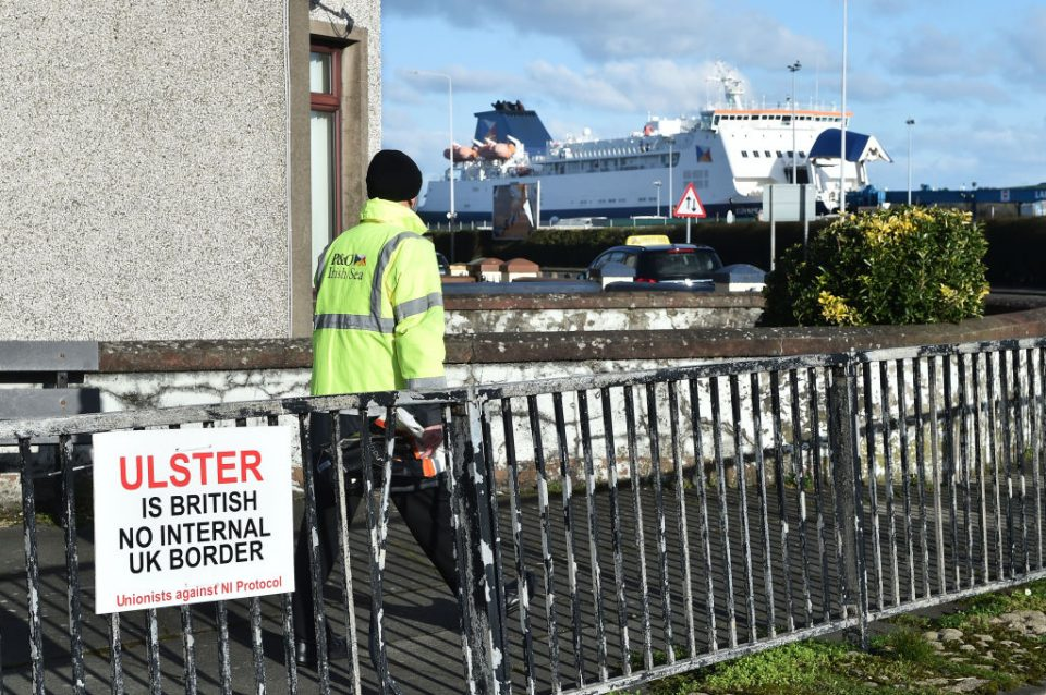 Workers Return To The Port Of Larne After Loyalist Threats