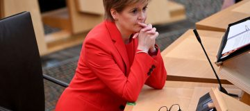 Scotland's First Minister Takes  Weekly Questions In Parliament