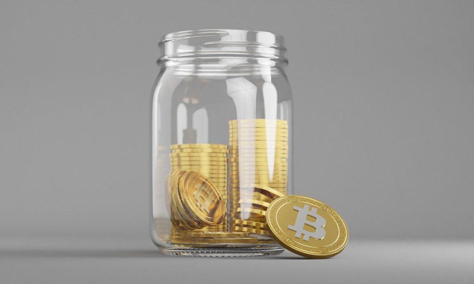 Bitcoin in a jar