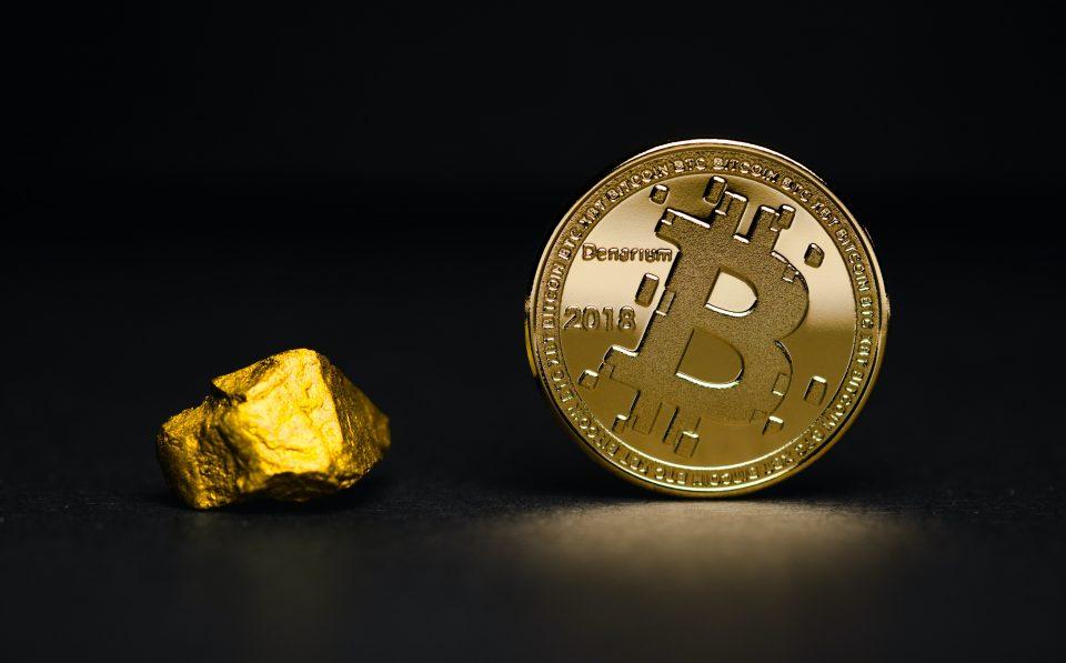Bitcoin with gold - photo by Aleksi Räisä on Unsplash