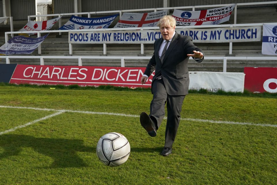 Boris Johnson Campaigns In The Hartlepool By-election