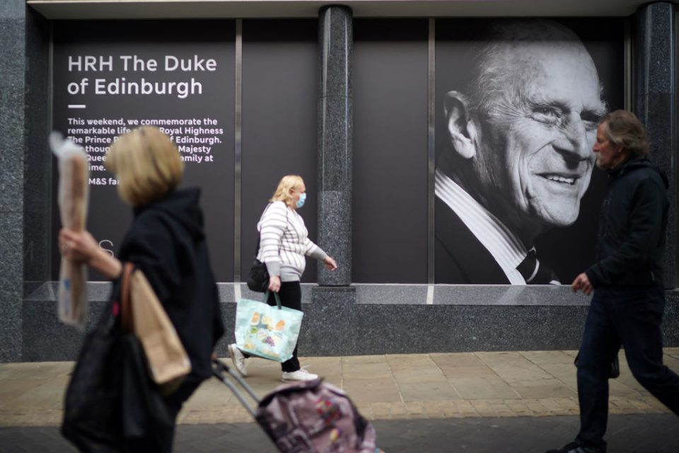 Britain Continues Period Of National Mourning Following The Death Of Prince Philip, Duke Of Edinburgh