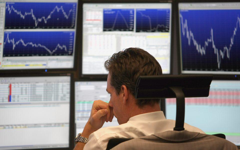 German Stock Exchange Opens After Wall Street Crash