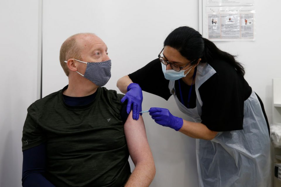 Lord Mayor Of London Visits Fleet Street Vaccination Center