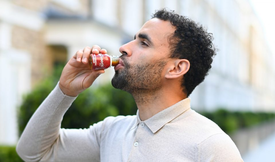 Hal Robson-Kanu took his home-made health drinks business to market in 2018 when he launched the Turmeric Co