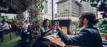 Boisdale's terrace at Canary Wharf