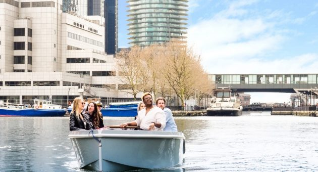 GoBoat lets you Charter your own pleasure boat at Canary Wharf