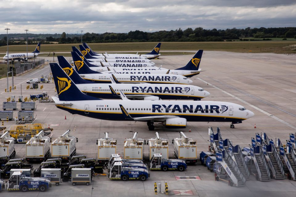 Ryanair flew just 0.5m people last month as travel restrictions continued to batter the airline industry as the worst year in its history came to an end.