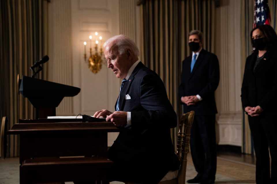 US President Joe Biden administration has today pledged to slash US greenhouse gas emissions by 50 per cent - 52 per cent from 2005 levels by 2030.
