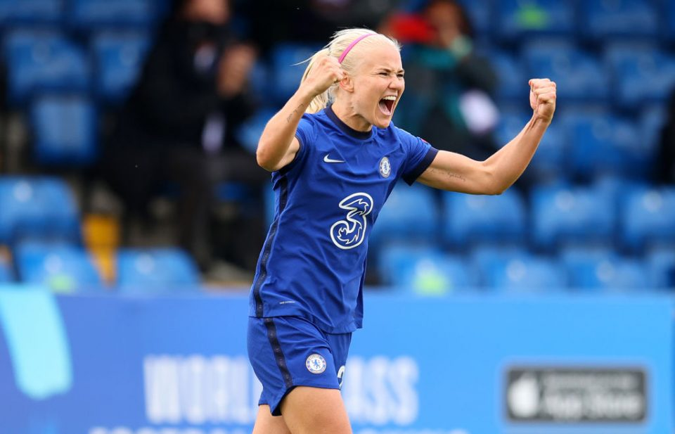 Pernille Harder is one of the world's leading players and will be aiming to win the Women's Champions League with Chelsea next weekend