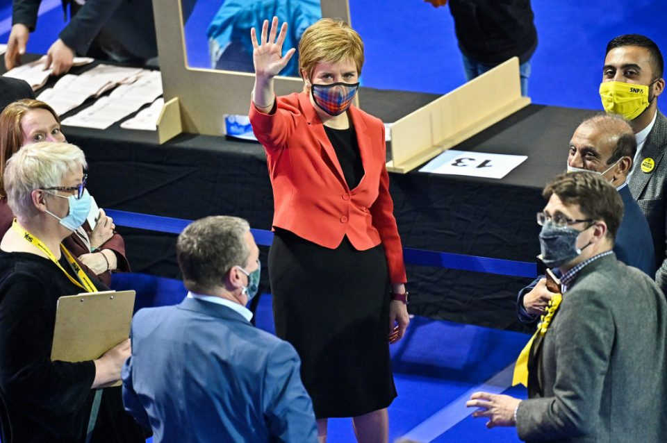 Holyrood Election Count and Declarations Take Place In Glasgow