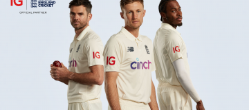 The deal between IG and the ECB will see the City-based company's logo appear on the shirts of the men's team in all three formats